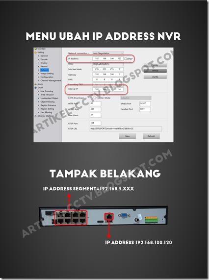 menu ubah ip address nvr spc