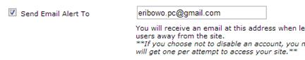 Masukan alamat email Anda untuk info aktifitas leeching terbaru
