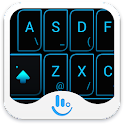 Neon Blue Light Keyboard Theme icon