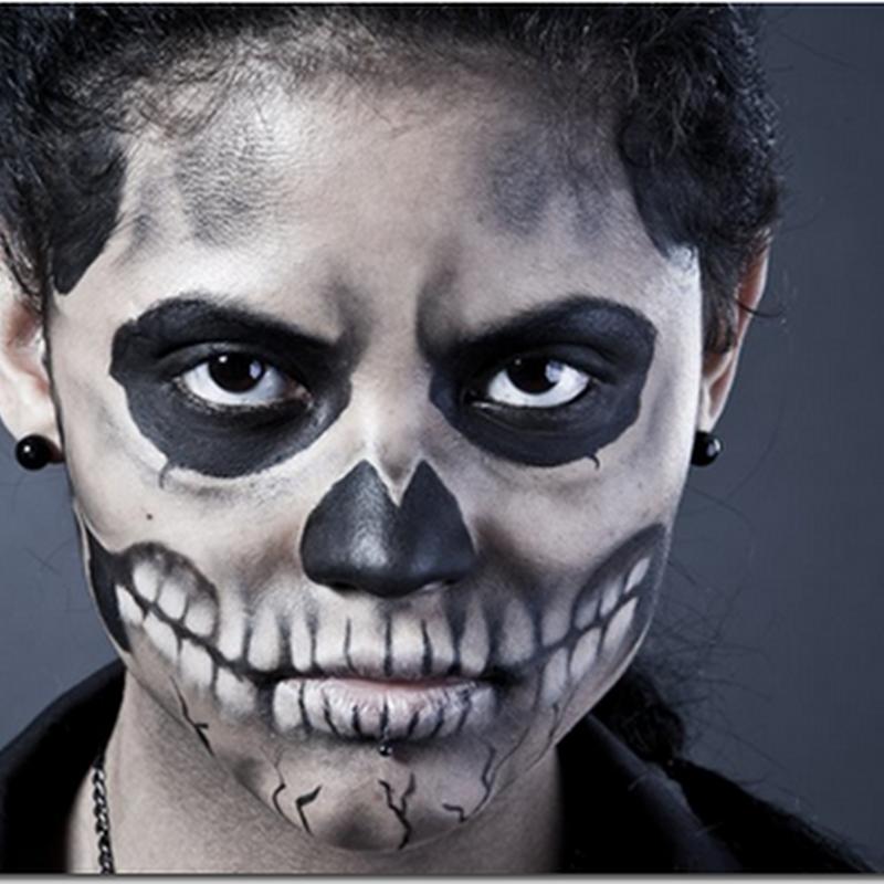 Maquillaje muerte calavera halloween