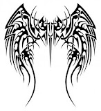Tribal Tattoos Of Angel Wings