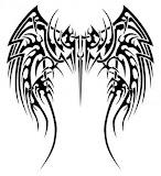 Tribal Tattoos Of Angel Wings