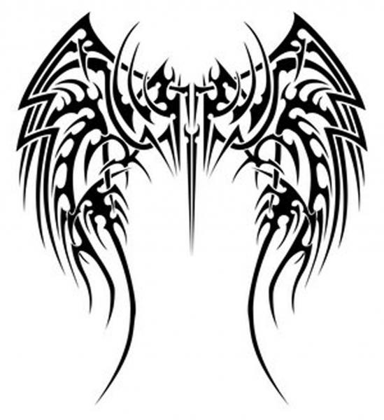 Tribal Tattoos Of Angel Wings, Evil Creatures 2