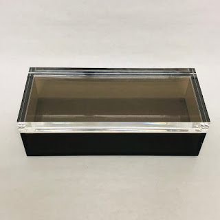 Alessandro Albrizzi Mid-Century Grey & Clear Lucite Box