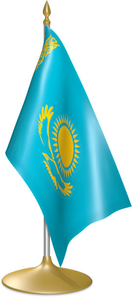 Kazakhstani table flags - desk flags