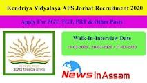Kendriya Vidyalaya AFS Jorhat Recruitment 2020