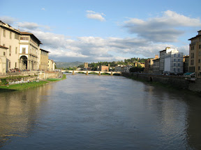 Looking east along the Arno