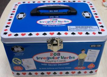 208 Irregular Verbs Playing Cards Tin
