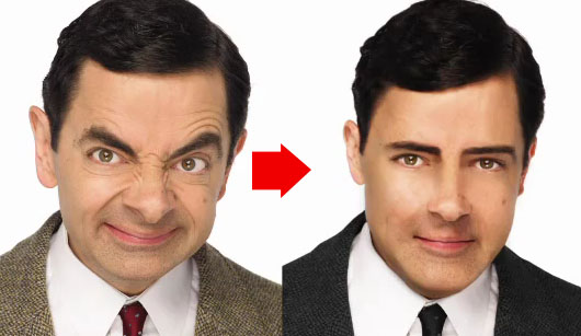Transformações no Photshop - Mr. Bean