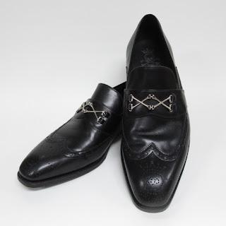 Barker Black Longwing Loafers