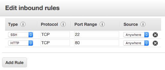 Add HTTP Rule