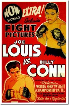 Joe Louis vs Billy Conn poster-8x6 (1)