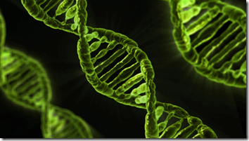Image of green strands of DNA