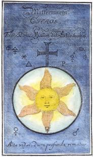From J P Maul Grundliche Beschreibung Des Hochsten Kleinods Der Welt Gotha, Alchemical And Hermetic Emblems 2