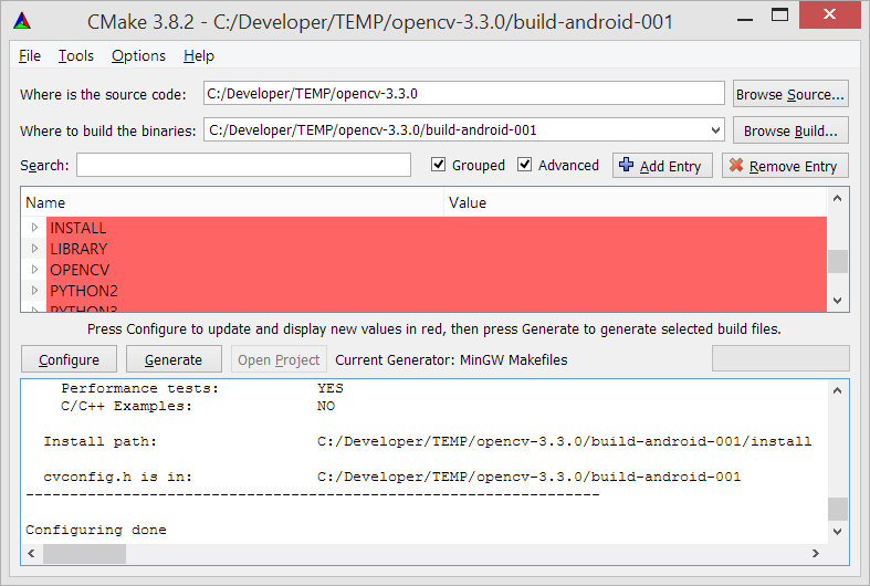 Generar OpenCV para Android