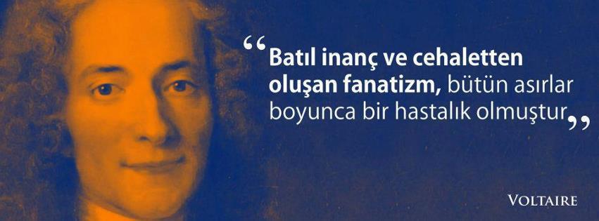 Voltaire batıl inanç facebook kapak fotoğrafı