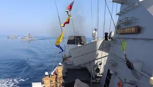 KRI Sultan Hasanuddin-366 Tunjuk Kemampuan Dengan Latihan bersama Passing Exercise (Passex) dengan kapal perang Turki