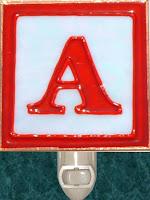letter A Block