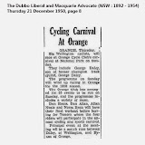 Old Orange Cycle Club newspaper articles
