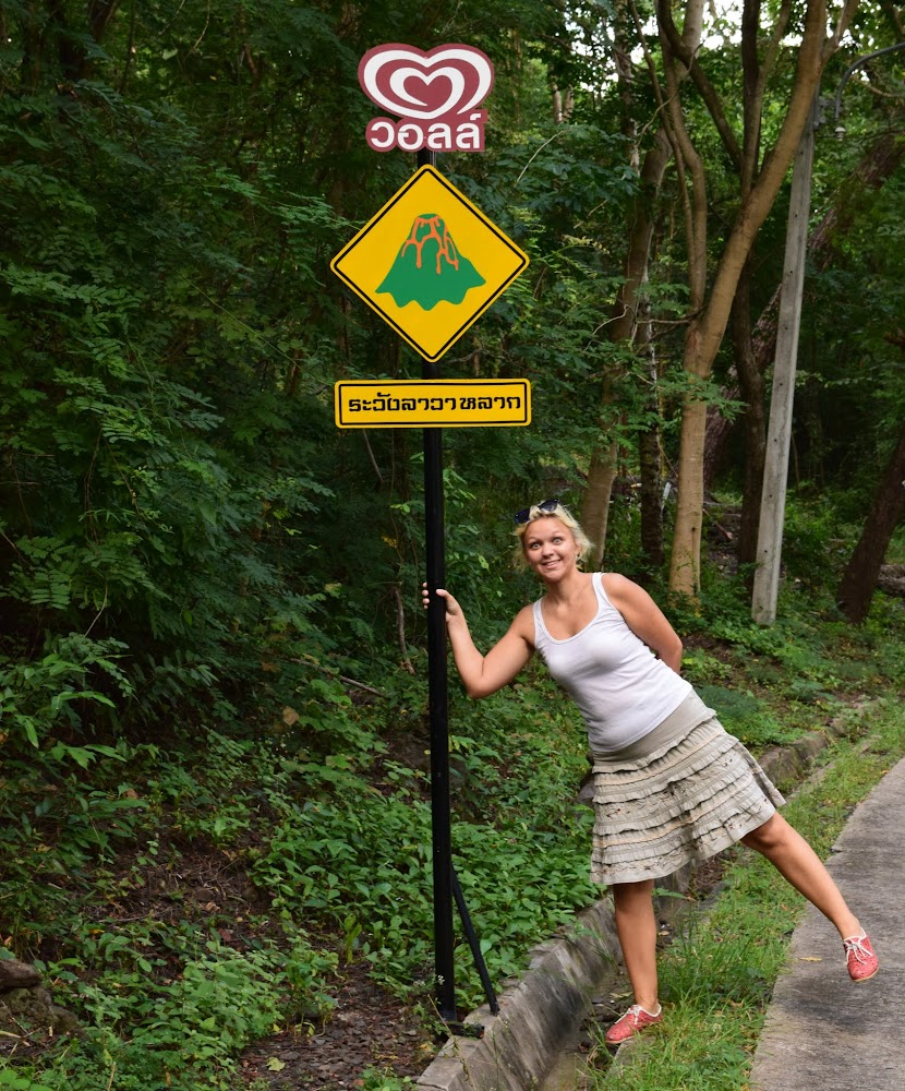 Funny volcano signs on the roads leading up the volcano!!