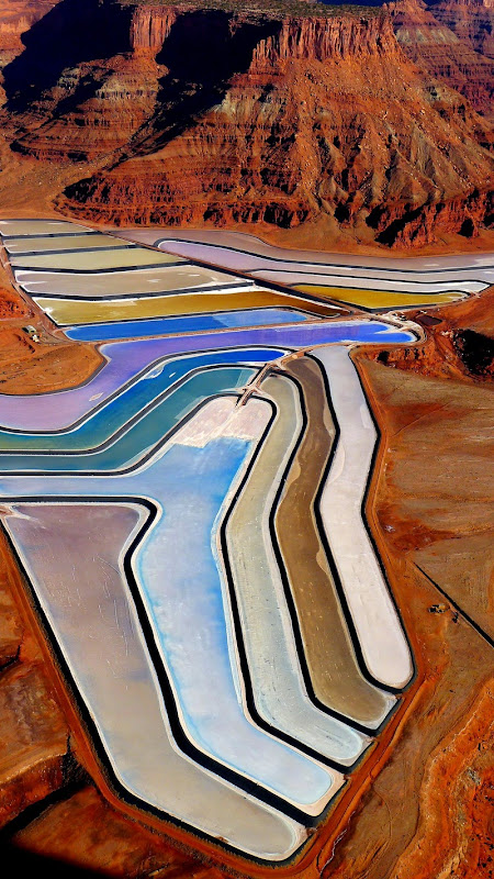 Potash Evaporation Ponds in Utah  Amusing Planet