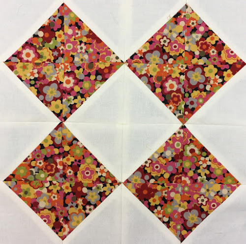 Block 1: 16 HST quilt sampler - beginner quilt
