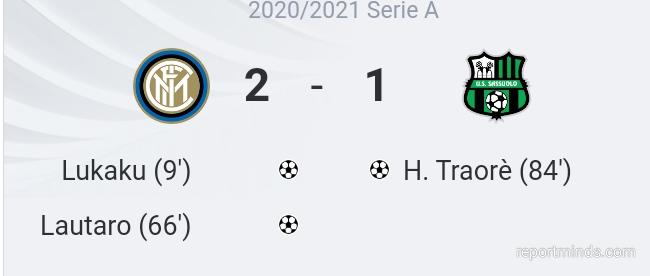 Serie A: Lukaku and Lautaro Martinez goals inspired Inter Milan 2-1 win over Sassuolo (Highlights) 2020-2021