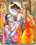 [Rama embracing Bharata]