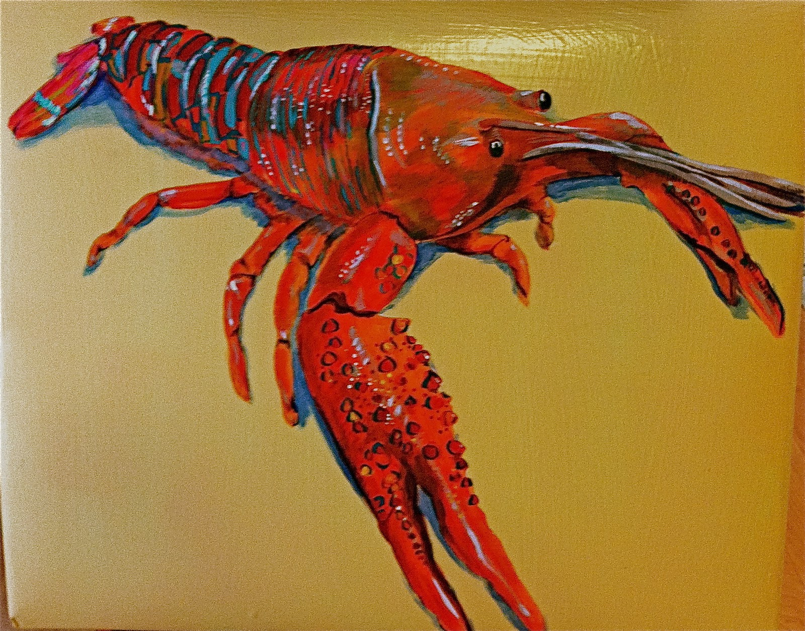 Displaying 19> Images For - Crawfish Painting...