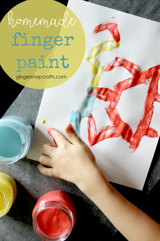 homemade finger paint recipe at GingerSnapCrafts.com #diy #kids #kidcrafts