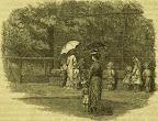 A budapesti állatkert környéke,  a majomketrecnél, 1886 (Fotü: OSZK)