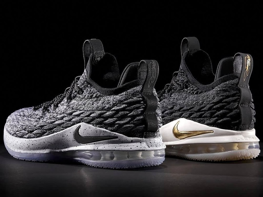 8a7588bb0f8b5 Release Reminder   Black Gold     Ashes  Nike LeBron 15 Lows