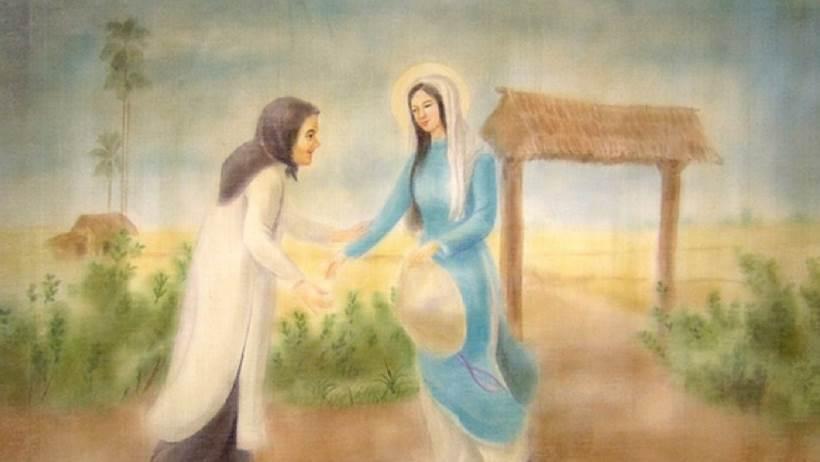 chuẩn bị lễ giáng sinh với Mẹ Maria