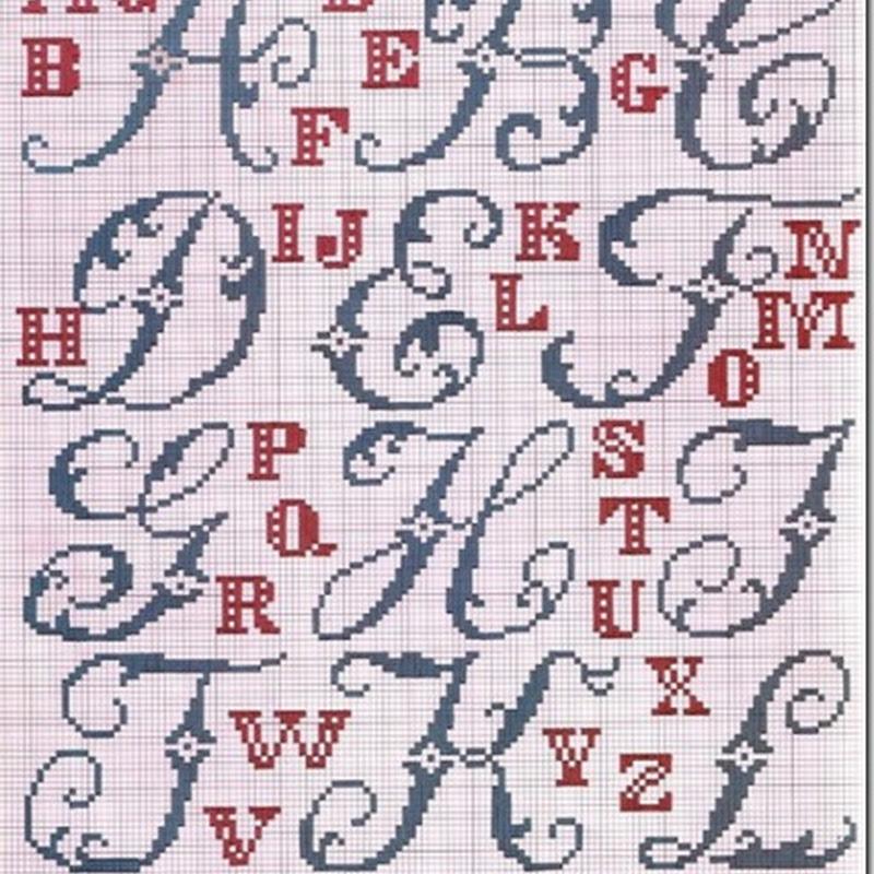 Abecedario letras punto de cruz