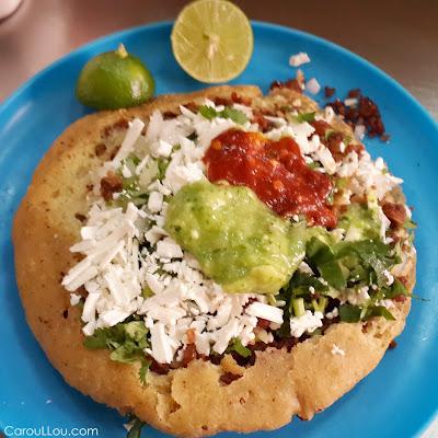CarouLLou.com Carou LLou in Mexico city food gordita +
