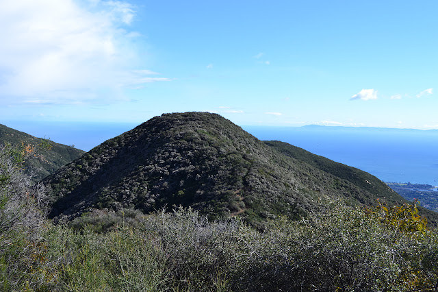 unnamed peak along the current trail route