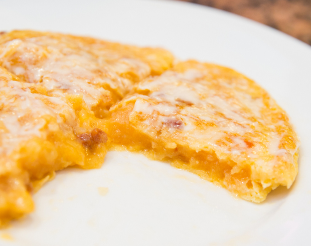 close-up photo of Tortilla trampera