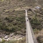 Suspension bridge at Chhomrong