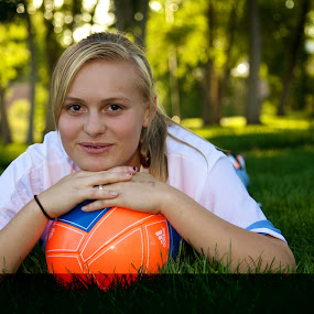 by Kyle Sheppard - Novices Only Portraits & People ( ball, girl, sport, athlete, portrait, soccer )