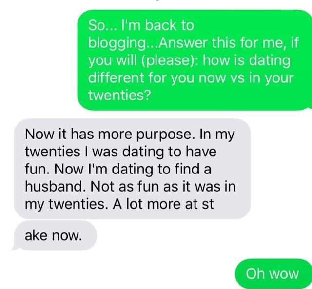 20s vs 30s dating