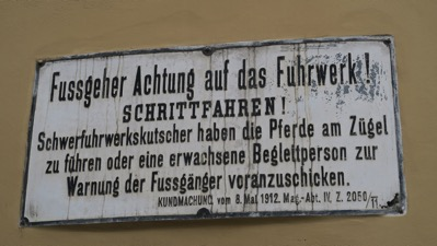 Alley sign dated 1912