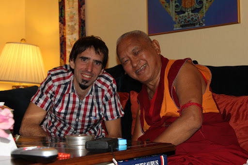 Osel and Lama Zopa Rinpoche in California Sep 2012
