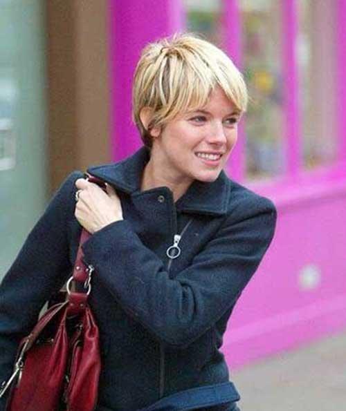 Sienna Miller Pixie Haircut Style Fashion Qe