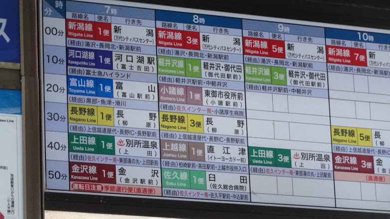 えちご・くびき野100kmマラソン 高速バス