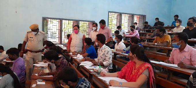 कुलपति, प्रति कुलपति और कुलसचिव के द्वारा नालंदा खुला विश्वविद्यालय के विभिन्न सेंटरों पर हो रही परीक्षा का औचक निरीक्षण