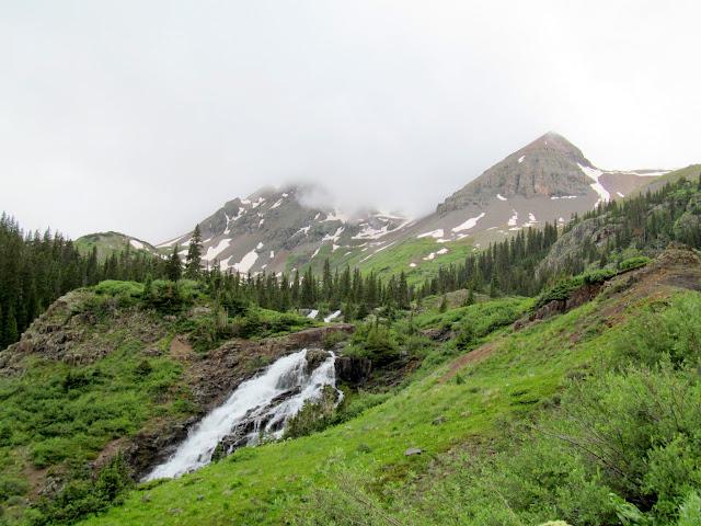 Waterfall above Sneffels Creek