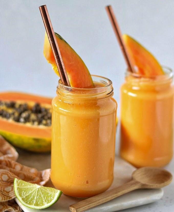 Papaya & Blood Orange Smoothie Recipe | Breakfast Care