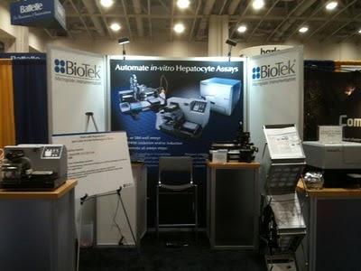 BioTek's booth