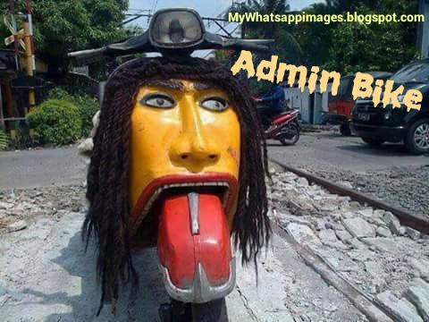 Whatsapp group admin bike joke image for whatsapp