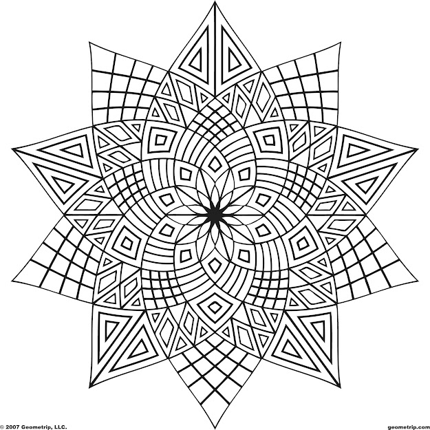 Adult Free Designs Too Color  Geometrip  Free Geometric Coloring  Designs  Shapes  Printable Adult Coloring Pagescoloring